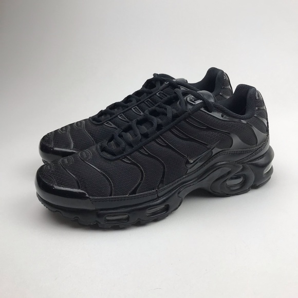 huge selection of c879d ace49 NIKE AIR MAX PLUS TN Triple Black Shoes 604133-050